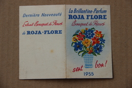 Calendrier Brillantine-Parfum Roja Flore, 1955 - Calendars