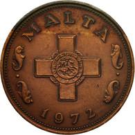 Monnaie, Malte, Cent, 1972, British Royal Mint, TB+, Bronze, KM:8 - Malta
