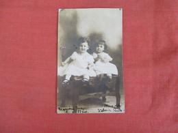 RPPC   -  B 2 Named Children Lawton OK.  >  Ref 3043 - Portraits