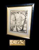 [COTE-d'OR DIJON BEAUNE] SANDIER (Albert) - [Dessin à La Plume, Signé] C. 1900. - Dessins
