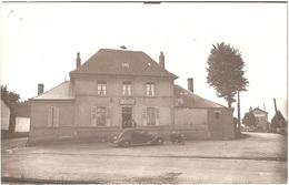 Dépt 80 - BOUQUEMAISON - ÉPREUVE De CARTE POSTALE (photo R. LELONG) + PLAQUE De VERRE D'origine - La Gare Et Café LOREL - France