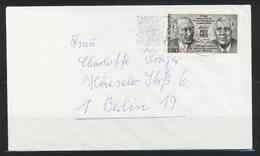 BRD 1988; MiNr. 1351 -25 J.deutsch-französische Zusammenarbeit- EF Auf Standardbrief; B-542 - Covers & Documents