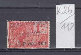 26K412 / 1926 - 1 Fr. - ROOMAN & VAN BOVEN , ALBERT Revenue Fiscaux Steuermarken Fiscal Belgique Belgium Belgien Bel - Timbres
