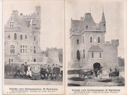 """3 PK. MARIABURG -EKEREN-BRASSCHAAT """" KOLONIE VOOR OORLOGSWEEZEN -WERK DER AARDAPPELSCHIL"""" Edit. Mauquoy & Zonen - Antwerpen"""