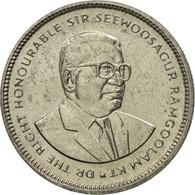 Monnaie, Mauritius, 20 Cents, 1987, TTB, Nickel Plated Steel, KM:53 - Mauritius