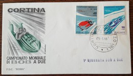 ITALIE - FDC 1966 - YT N°938, 939 - Championnats Du Monde De Bobsleigh / Sport - 6. 1946-.. Republik