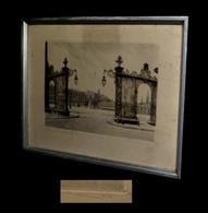 [NANCY Place Stanislas] ROBIN (L.) - [Eau-forte Signée]. - Engravings