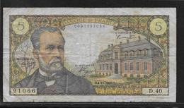France 5 Francs Pasteur - Fayette N°61-4 - TB - 1962-1997 ''Francs''