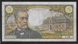 France 5 Francs Pasteur - Fayette N°61-4 - TB - 5 F 1966-1970 ''Pasteur''
