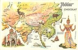 Image Publicitaire Chocolat Tobler , Tour Du Monde , N° 8 , Asie Du Sud , * 272 75 - Vieux Papiers