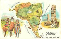 Image Publicitaire Chocolat Tobler , Tour Du Monde , N° 4 , Amerique Du Sud , * 272 79 - Vieux Papiers