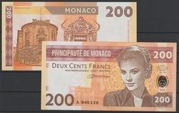 2018 Matej Gabris Monaco 200 FRANCS Grace Patricia Kelly Princesse Cinema UNC SPECIMEN ECHANTILLON Tirage Limité - Fictifs & Spécimens