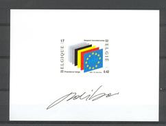 NA 10NL EUROPESE UNIE  NIET AANGENOMEN ONTWERP 2002 - Belgique
