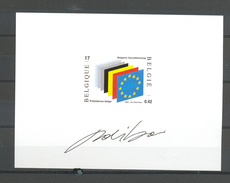 NA 10FR EUROPESE UNIE  NIET AANGENOMEN ONTWERP 2002 - Belgium