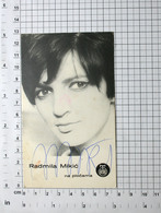 RADMILA MIKIĆ, PEVAČICA - FOTOGRAFIJA SA ORIGINALNIM AUTOGRAMOM - Vintage PHOTO With ORIGINAL Autograph (YU01-32) - Reproductions