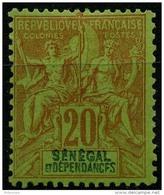 Sénégal (1892) N 14 * (charniere) - Senegal (1887-1944)