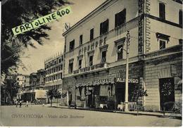 Lazio-civitavecchia Viale Stazione Veduta Albergo Ristorante Miramare Anni 50 - Civitavecchia