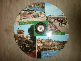 Carte Avec Vues Multiples De DEAUVILLE TROUVILLE ; Port, Hippodrome Etc..... - France