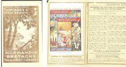 CP CHEMINS DE FER DE L'OUEST Dans DEPLIANT HORAIRES   1907 (1) - Railway