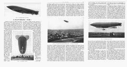 "LE BALLON DIRIGEABLE   "" PATRIE  ""  1907 - Transports"