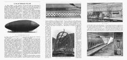 "LE BALLON DIRIGEABLE  ""  WELLMAN ""    1907 - Transports"