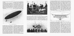 """LE BALLON DIRIGEABLE  """" DE LA VAUX """"    1907 - Transports"""