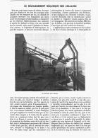 LE DECHARGEMENT MECANIQUE DES CHALANDS   1907 - Transports