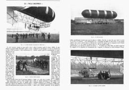 """LE DIRIGEABLE """" NULLI  SECUNDUS """"     1907 - Transports"""