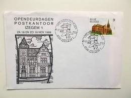 Opendeurdagen Postkantoor IZEGEM  18-11-1989 Zegel Izegem - Marcophilie