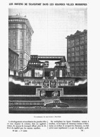 LES MOYENS DE TRANSPORT DANS LES GRANDES VILLES MODERNES  ( METRO DE NEW-YORK )   1907 - Transports