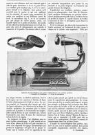 TELEMICROPHONOGRAPHIE  1907 - Sciences & Technique