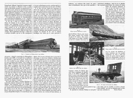 WAGONS METALLIQUES Et ACCIDENTS De CHEMINS De FER   1907 - Chemin De Fer