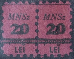"ROMANIA  HUNGARY Cca 1945  ""M.N.Sz(Magyar Nemzeti Szövetség"" 2 PENGŐ/20 LEI RARE   Affiliation Fee - Fiscales"