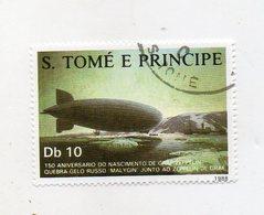 S. Tomè E Principe - 1988 - Francobollo Tematica Trasporti - Zeppellin - Usato - (FDC11426) - Sao Tomé E Principe