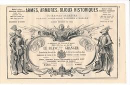 PUB 1881 Armurier Arme Armure Le Blanc Granger Boulevard Magenta Paris Armes De Chasse Guerre Gosselin à Charenton - 1800 – 1899