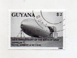 GUYANA - 1988 - Francobollo Tematica Trasporti - Zeppellin - Usato - (FDC11427) - Guiana (1966-...)