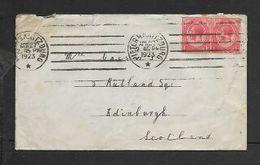 South Africa, 2d, PIETERMARITZBURG APR 27 1923 > Scotland - South Africa (...-1961)
