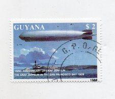 GUYANA - 1988 - Francobollo Tematica Trasporti - Zeppellin - Usato - (FDC11428) - Guiana (1966-...)