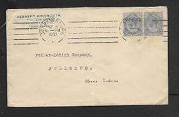 South Africa, HERBERT AINSWORTH Jhb, Cover, 5d (2 X 2 1/2d)JOHANNESBURG MAY 4 21 > U.S.A. - South Africa (...-1961)