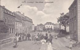 Kayl Rue D'Esch - Escherstrabe Belle Animation Et Circulée En 1912 - Esch-sur-Alzette
