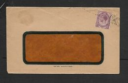 """South Africa, Window Envelope, 2d, Perfined """"JH"""" (inverted) JJOHANNESBURG JAN ? 192? C.d.s. - South Africa (...-1961)"""