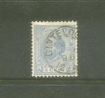 Kleinrond Dinteloord Op Nvph 19 - Periode 1852-1890 (Willem III)