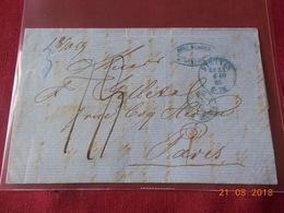 Lettre De 1866 En Provenance De Stettin (Pologne) A Destination De Paris - ....-1919 Übergangsregierung