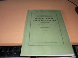 Centralforbundet For Nykterhetsundervisning 124 De Allmanna Upplysningskurs  1925 Sala 1926 J M Pauli Jagmastern - Livres, BD, Revues