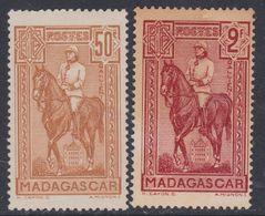 Madagascar N° 190 / 91 XX Général Galliéni :  50 C. Brun-jaune, 2f. Rouge Brique, Les 2 Valeurs  Sans Charnière   TB - Nuovi