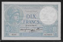 France 10 Francs Minerve - Fayette N°7-20 - SUP - 1871-1952 Antichi Franchi Circolanti Nel XX Secolo