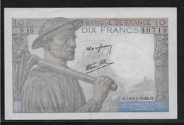 France 10 Francs Mineur - Fayette N°8-5 - SUP - 10 F 1941-1949 ''Mineur''