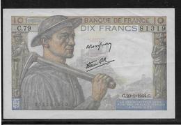 France 10 Francs Mineur - Fayette N°8-11 - SUP - 10 F 1941-1949 ''Mineur''