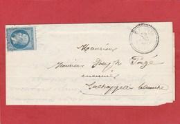 Indre Et Loire - Saint Flovier GC 3600 Sur N°22  - CAD Type 22 - LAC Du  20 Décembre 1866 - Postmark Collection (Covers)