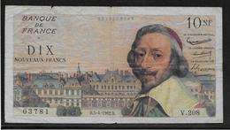 France 10 Francs NF Richelieu - Fayette N°57-18 - TB - 1959-1966 ''Nouveaux Francs''